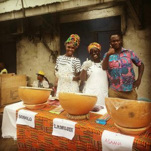 Festival Vendors selling Sobolo and Palm Wine